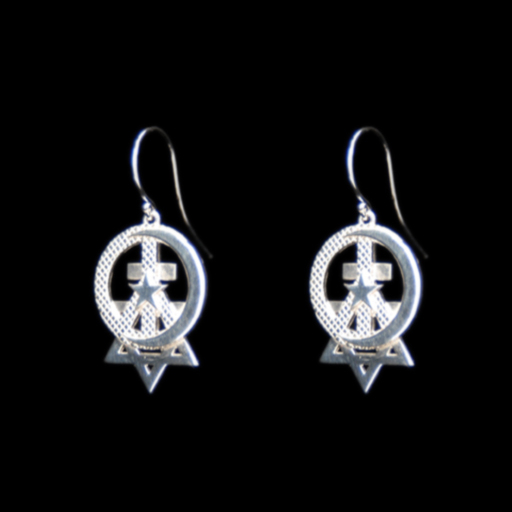 Sterling Silver Earrings1″L x 3/4″W